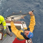 Captain with a Longfin tuna