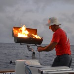 Grill aboard for fresh fish