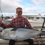 1 of 2 150 pounds Bigeye tunas caught by Mr. Tomas. May