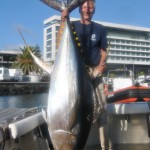 220 pounds Yellowfin tuna for Mr. Henry. September