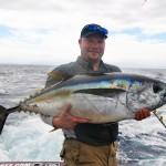 Bigeye tuna for Mr. Rasmus on the jig. June