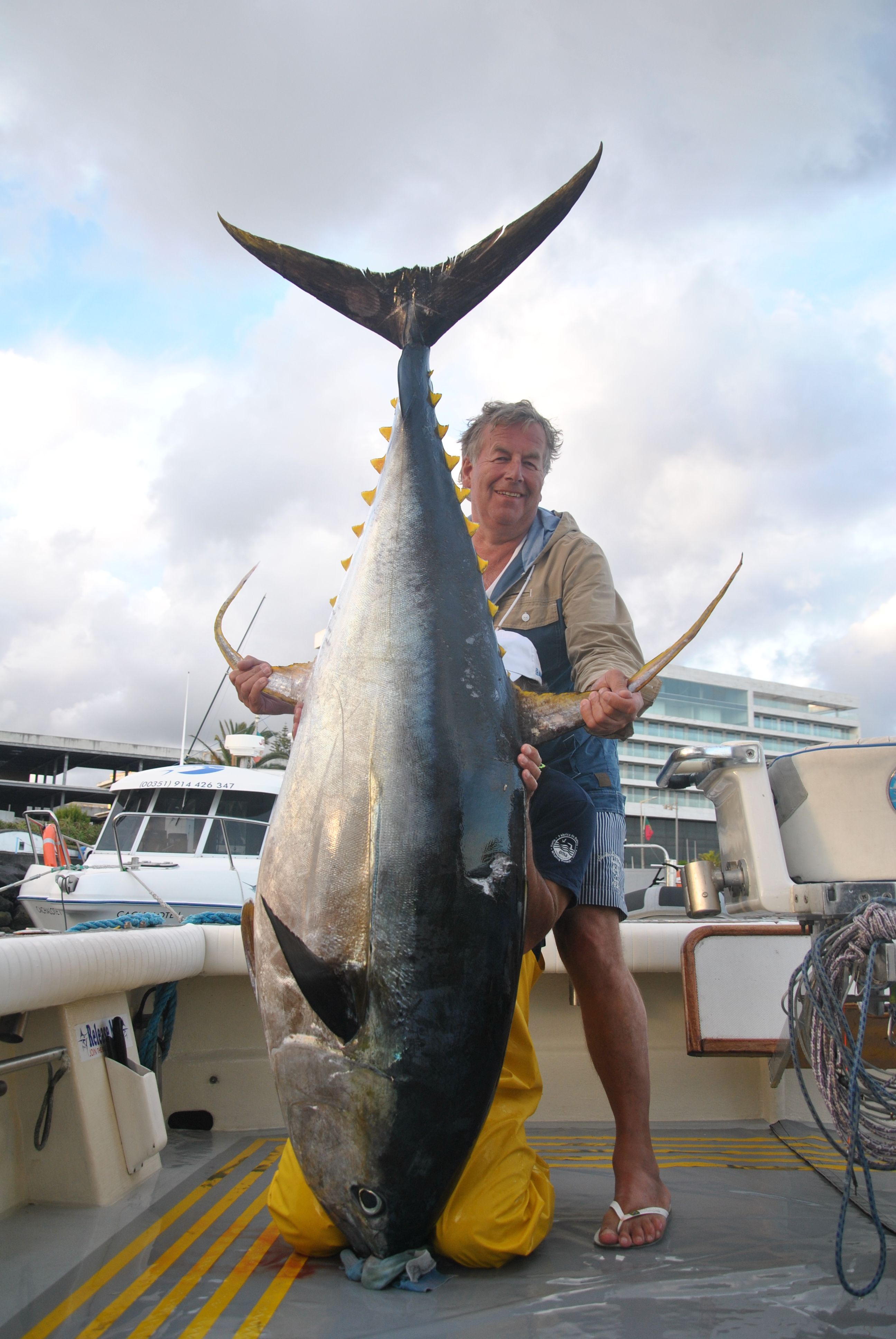 270 pounds Yellowfin tuna for the luckman Mr. Michel. June 14
