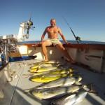 Dorado fishing with Mr. Knud